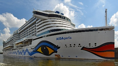 AIDAperla am 26.05.2020 beim Cruise Center Steinwerder in Hamburg