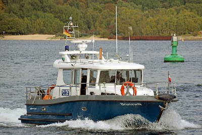 Polizeiboot BRUNSWIK am 3.10.2019 in Kiel