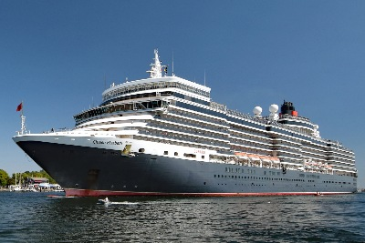 QUEEN ELIZABETH am 7.8.2018 in Lübeck-Travemünde