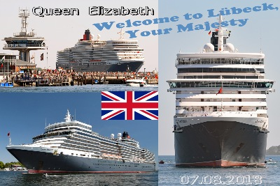 QUEEN ELIZABETH in Lübeck-Travemünde