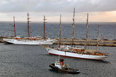 SEA CLOUD und SEA CLOUD II am 8.11.2019 vor Arrecife / Lanzarote
