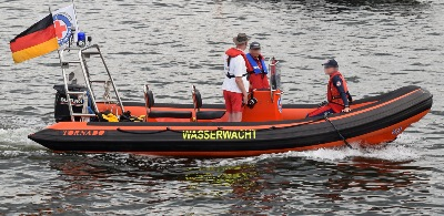 Boot der Wasserwacht am 20.7.2019 in Travemünde