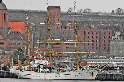 GORCH FOCK in Kiel am 9.2.2015