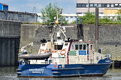 Polizeiboot AMERIKAHÖFT am 26.05.2020 in Hamburg