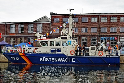 Bundespolizei-Boot BP 65 am 13.7.2019 in Neustadt/Holstein