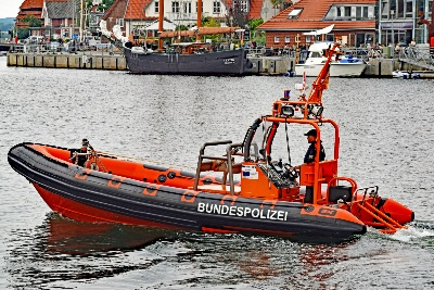 Kontrollboot der Bundespolizei am 13.7.2019 in Neustadt/Holstein