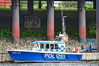Polizeiboot WS 44 am 27.5.2019 in Hamburg
