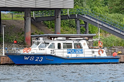 Polizeiboot WS 23 am 27.5.2019 in Hamburg